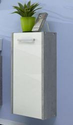 Hängeschrank Badmöbel Splash weiß mit Industrie Beton grau 30 x 71 cm
