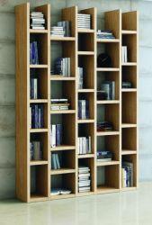 Wohnwand Bücherwand MDor Dekor Eiche Natur