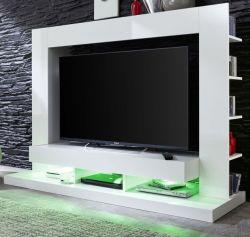 TV Schrank Fernsehschrank Cyneplex weiss glänzend 164 x 124 cm bis 55