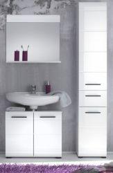 Badkombination Skin Badezimmer Set Hochglanz weiß 3-teilig