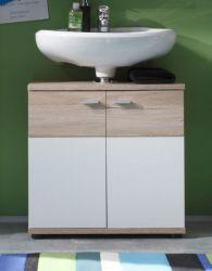Badmöbel Waschbeckenunterschrank Campus San Remo Eiche hell / weiß