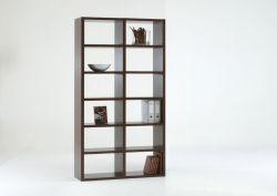 Bücherwand Bücherregal Raumteiler MDor Dekor Wenge