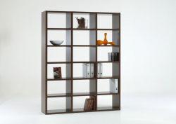Bücherwand Bücherregal Raumteiler MDor Wenge Dekor