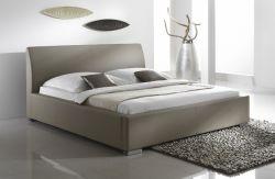 Doppelbett Polsterbett Altora Leder Optik braun 200 x 200 cm mit Komforthöhe Überlänge wahlweise