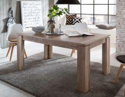 Esstisch Monument Eiche ausziehbar Holztisch inkl. Einlegeplatte im Gestell 160 / 200 cm