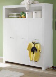 Baby- und Kinderzimmer Kleiderschrank Olivia in weiß 3-türig 130 x 186 cm