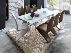 Essgruppe Tisch Plaza weiß 8 x Stuhl Amado GE2501-13