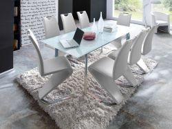 Essgruppe Tisch Plaza weiß 8 x Stuhl Amado weiß GE2501-14