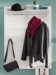 Garderobenpaneel Amanda Hochglanz weiß 91 x 120 cm