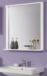 Badezimmer Spiegel Florida in weiß Badspiegel mit Ablage 63 x 78 cm Badmöbel