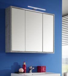 Badmöbel Spiegelschrank Spa in grau / Industrie Beton Design