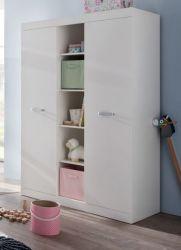 Baby-/Kinderzimmer Kleiderschrank Ronja in weiß 120 cm 11 Wäschefächer
