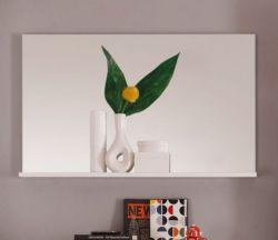 Wandspiegel Garderobe Spiegel Mezzo weiß 91 x 56 cm