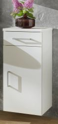 Badzimmer Unterschrank mit Schublade in weiß 30 x 74 cm Adola