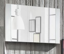 Flurgarderobe Wandspiegel Dakota in Pinie Struktur weiß 90 x 53 cm