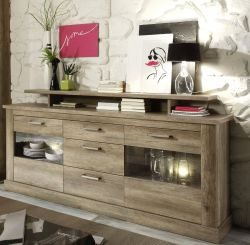 Sideboard Anrichte Montreal in Canyon Monument Eiche 206 x 101 cm
