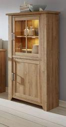 Vitrinenschrank in Eiche Alteiche Canyon Vitrine 83x164 cm Wohn- und Esszimmer Möbel