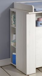 Babyzimmer Unterstellregal Miri für die Wickelkommode Pinie Struktur weiß
