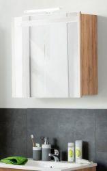 Spiegelschrank Badmöbel Intenso Eiche Trüffel Melamin 60 x 60 cm