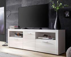 TV-Lowboard Kito Hochglanz weiß Fernsehtisch mit 178 x 59 cm