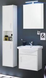 Badmöbel Set in Hochglanz weiß komplett mit Waschbecken 4-teilig 95x180 cm Badezimmer Jersey