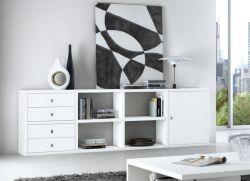 Sideboard MDor Lack weiß matt Breite 241 cm