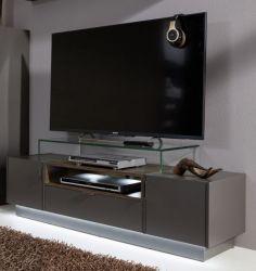 TV-Unterteil Lowboard Atlantan in Terra grau und Monastary Oak Dekor 140 x 38 cm