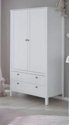 Kinder Kleiderschrank Ole 2-türig in weiß 91 x 192 cm