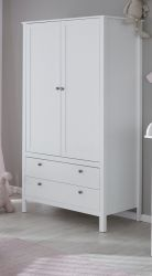 Kinderkleiderschrank Ole 2-türig in weiß 91 x 192 cm