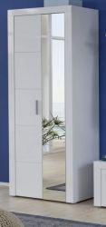 Flur Garderobe Garderobenschrank und Schuhschrank Kito in Hochglanz weiß 68 x 200 cm