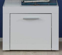 Garderobe Kito Sitzbank in Hochglanz weiß Schuhbank Garderobenbank 53 x 45 cm