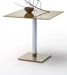 Esstisch Fion Glastisch in taupe Küchentisch quadratisch 80 x 80 cm