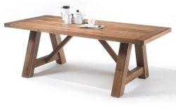 Esstisch Bristol in Eiche Bassano massiv matt lackiert Küchentisch Massivholztisch 180 x 100 cm