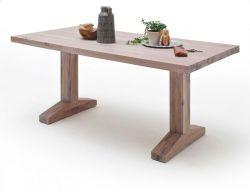 Esstisch Lunch in Eiche gekälkt massiv matt lackiert Massivholztisch 180 x 90 cm