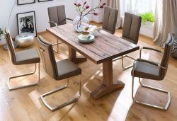 Esstisch Lunch in Eiche Bassano massiv matt lackiert Küchentisch Massivholztisch 180 x 90 cm