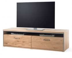 TV-Lowboard Espero in Asteiche Bianco massiv geölt TV-Unterteil 184 x 51 cm