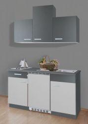 Singleküche Petra, grau (150 cm) inkl. E-Geräte