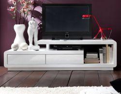 TV-Lowboard Celia in Hochglanz weiß TV-Unterteil 170 x 45 cm