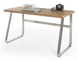 Schreibtisch Beno in Asteiche massiv geölt Laptoptisch für Homeoffice und Büro 140 x 60 cm