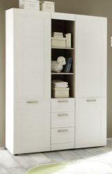 Babyzimmer: Kleiderschrank Landi weiß, Anderson Pinie (130 x 194 cm)