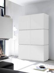 Schrank Sovana Hochschrank echt Lack matt weiß original Italien 123 x 190 cm - Sofort lieferbar -