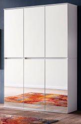 Garderobenschrank und Schuhschrank Mirror weiß mit Spiegeltüren Garderobe 111 x 191 cm Flurgarderobe