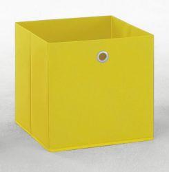 Faltbox in gelb Aufbewahrungsbox Stoffbox 32 x 32 cm Klappbox Sammelbox