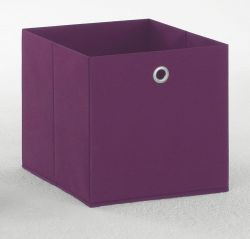 Faltbox in lila Aufbewahrungsbox Stoffbox 32 x 32 cm Klappbox Sammelbox