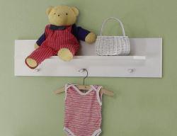 Babyzimmer Wandregal Olivia in weiß 75 x 20 cm Garderobenpaneel Wilson