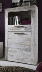 Kommode Highboard River Canyon Pinie weiß Shabby Vintage 66 x 133 cm