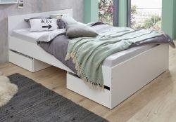 Kinder- und Jugendzimmer Bett Sugar in weiß mit 2 Auszügen Doppelbett Liegefläche 140 x 200 cm