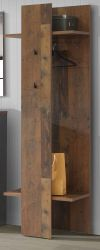 Garderobe Clif in Old Used Wood Shabby Flurgarderobe Garderobenpaneel 60 x 201 cm