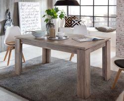 Esstisch ausziehbar Küchentisch 160 - 200 cm Holztisch in Eiche San Remo dunkel Dekor