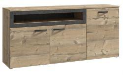 Sideboard Kalomira in Bramberg Fichte und Betonoptik grau Anrichte 180 x 82 cm Kommode
